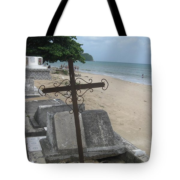 A Cross To Bear Tote Bag by Robert Margetts