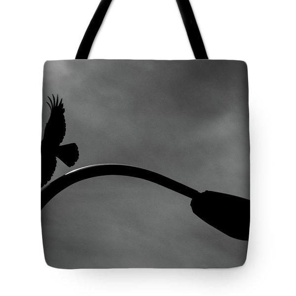 A Crow And A Streetlight Tote Bag