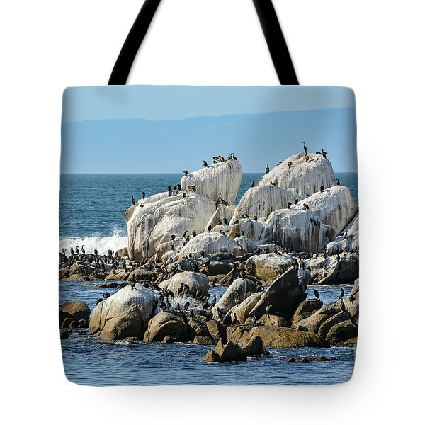 A Crowded Bird Rock Tote Bag