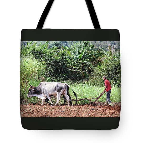 Tote Bag featuring the photograph A Cuban Tractor by Marla Craven