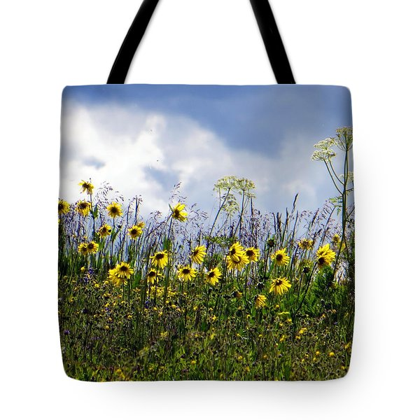 A Daisy Day Tote Bag by Karen Shackles