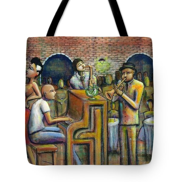 A Damn Good Night Tote Bag by Nelson Perez