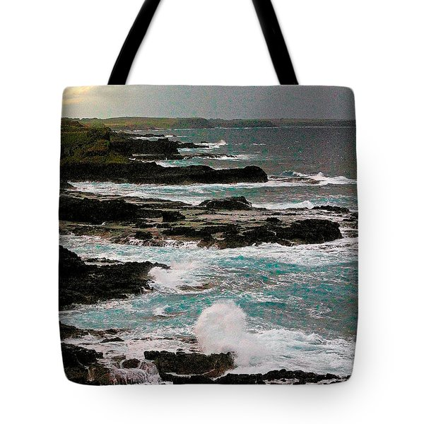 A Dangerous Coastline Tote Bag