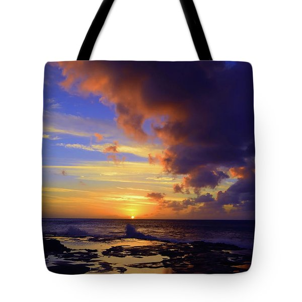 Tote Bag featuring the photograph A Dark Cloud Among Colour by Tara Turner
