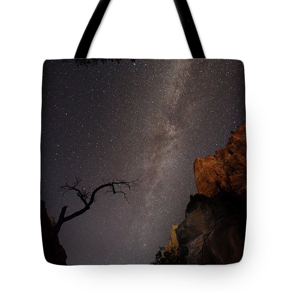 A Dark Night In Zion Canyon Tote Bag