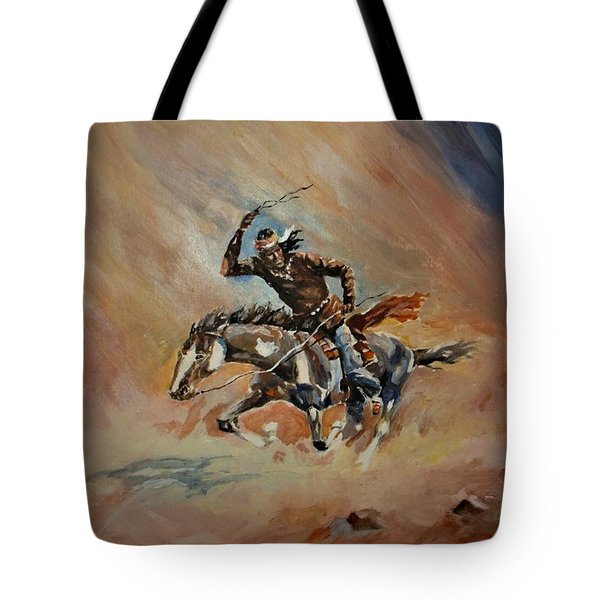 A Dash For Cover Racing Oncoming Sandstorm   Tote Bag