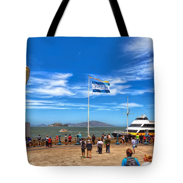 Tote Bag featuring the photograph A Day At Pier 39 by John M Bailey