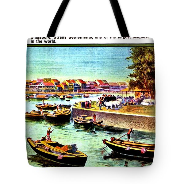 A Day At Singapore, Harbor Tote Bag
