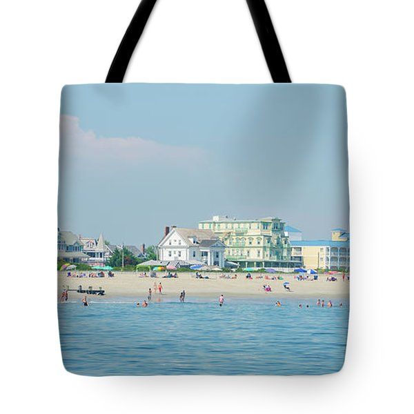 Tote Bag featuring the photograph A Day At The Beach - Cape May New Jesey by Bill Cannon