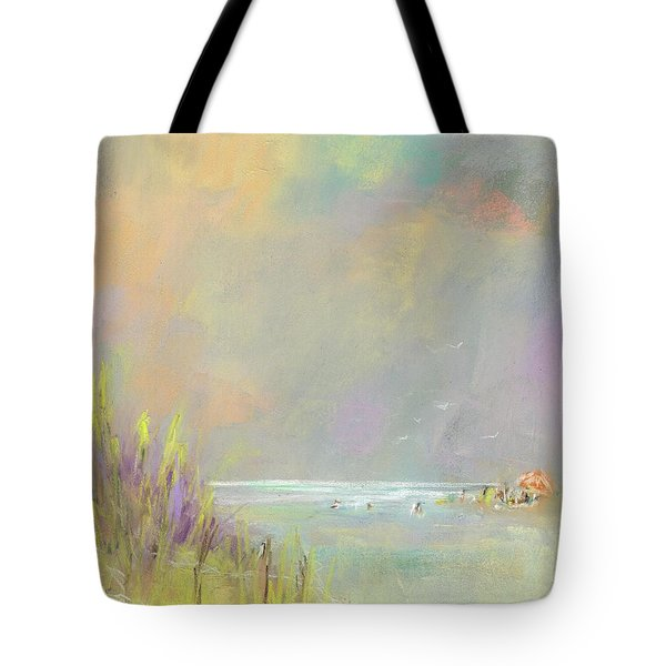 A Day At The Beach Tote Bag by Frances Marino