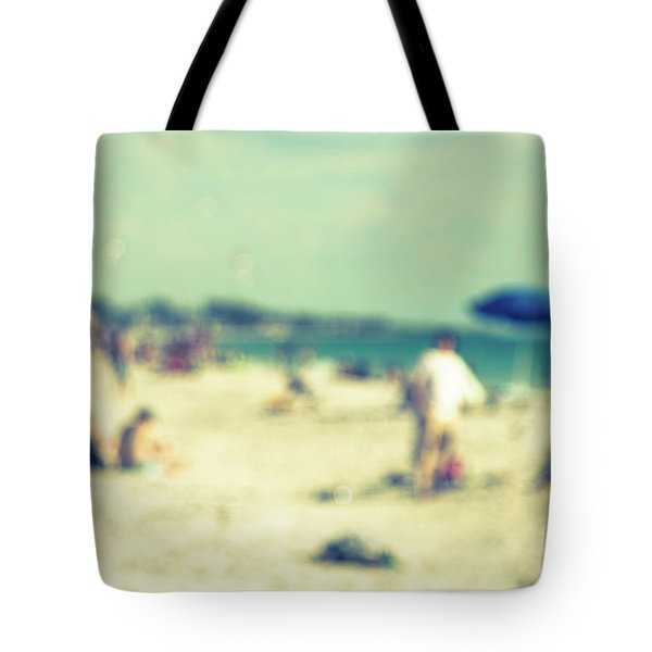 Tote Bag featuring the photograph a day at the beach I by Hannes Cmarits