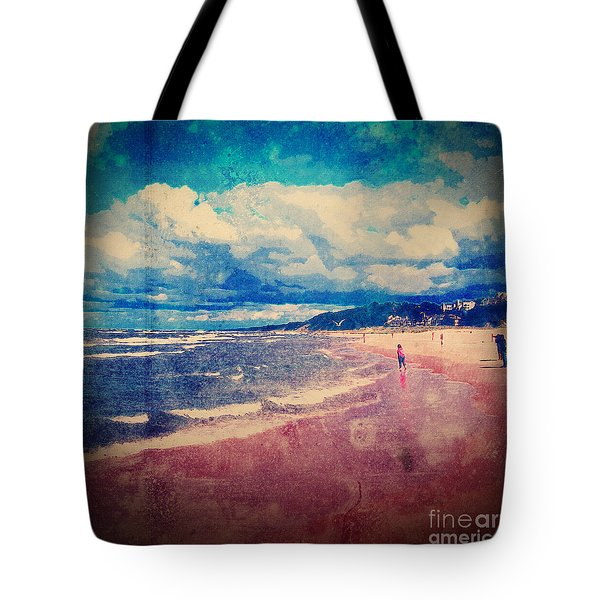 Tote Bag featuring the photograph A Day At The Beach by Phil Perkins