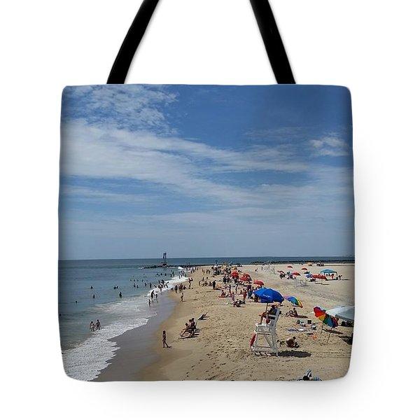 A Day At The Beach Tote Bag by Robert Banach