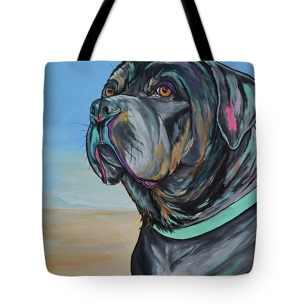A Day At The Beach With Max Tote Bag