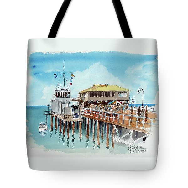 A Day At The Shore Tote Bag by John Crowther
