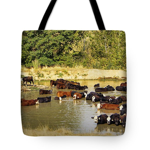 A Day At The Spa Tote Bag by Cricket Hackmann