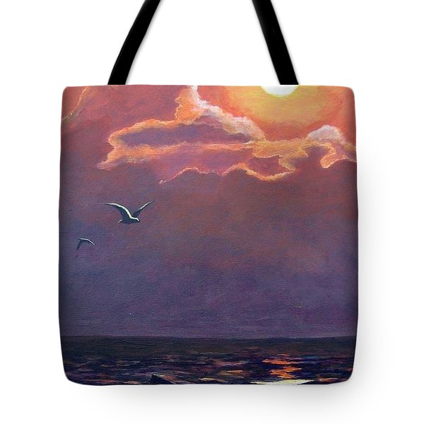 Tote Bag featuring the painting A Day In Galveston by Suzanne Theis