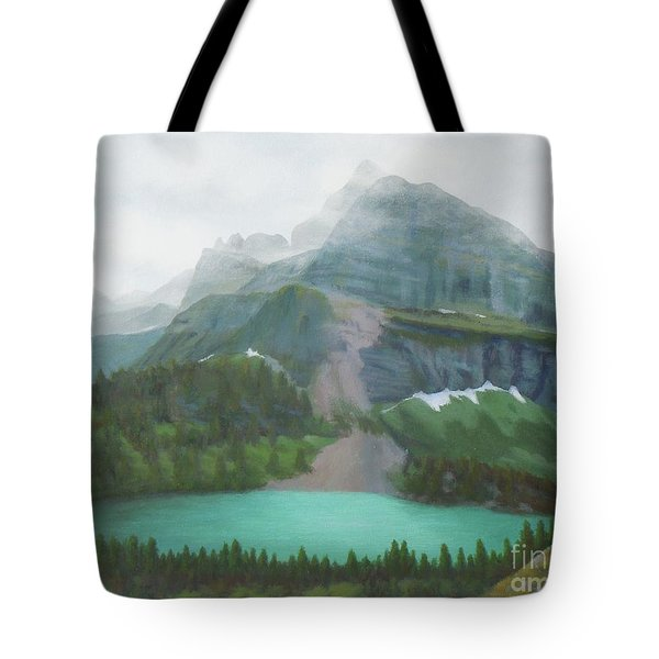 A Day In Glacier National Park Tote Bag