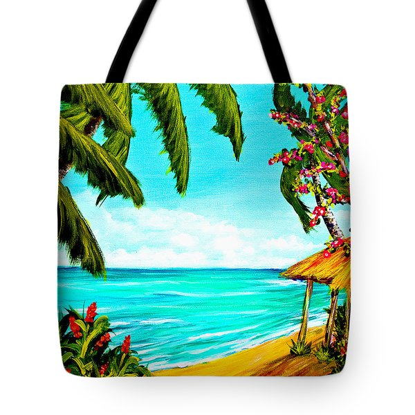 A Day In Paradise Hawaii Beach Shack  #360 Tote Bag by Donald k Hall