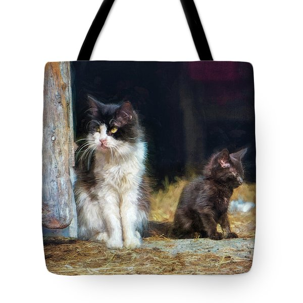 A Day In The Life Of A Barn Cat Tote Bag