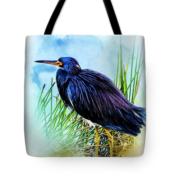 A Day In The Marsh Tote Bag by Cyndy Doty