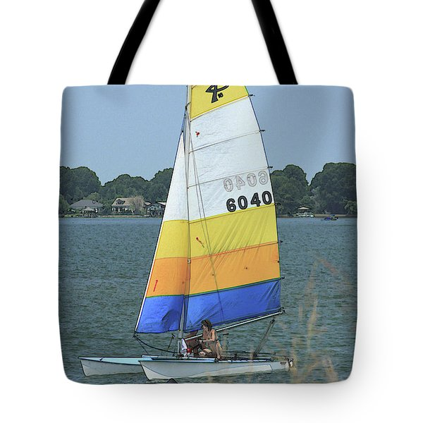 A Day To Sail Tote Bag by Karol Livote