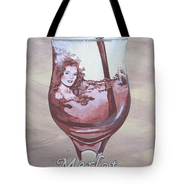 A Day Without Wine - Merlot Tote Bag by Jennifer  Donald