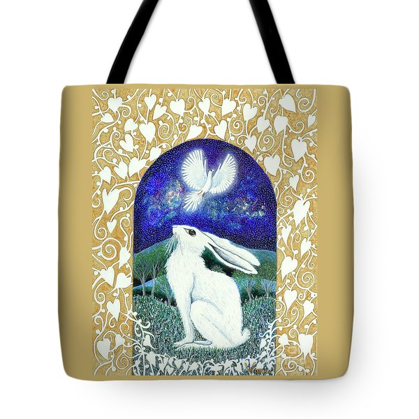 Tote Bag featuring the painting A Deep Thought by Lise Winne