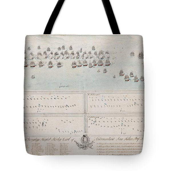 A Description Of The Naval Battle At The Island Of Oland In The Baltic Sea Tote Bag