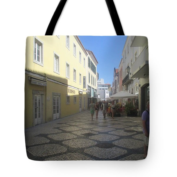 A Detail From A Street In The Historical Centre Of Cascais Near Lisbon Tote Bag
