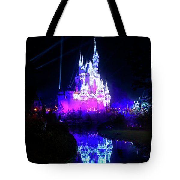 Tote Bag featuring the photograph A Disney New Year by Mark Andrew Thomas