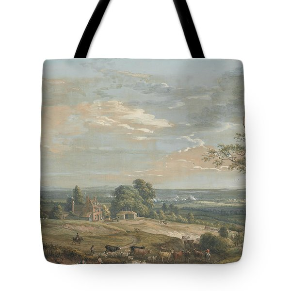 A Distant View Of Maidstone, From Lower Bell Inn, Boxley Hill Tote Bag