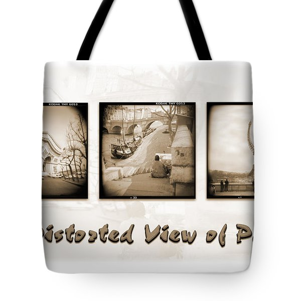 A Distorted View Of Paris Tote Bag by Mike McGlothlen