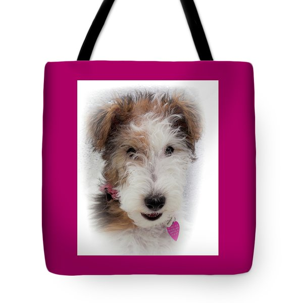 Tote Bag featuring the photograph A Dog Named Butterfly by Karen Wiles