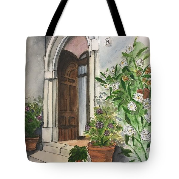 A Door In Castellucco, Italy Tote Bag