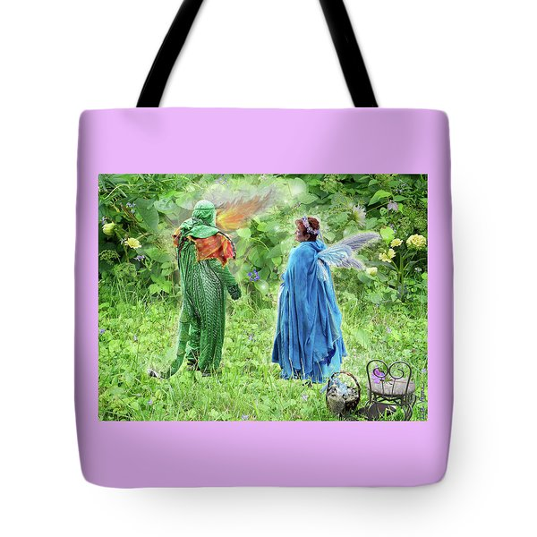 A Dragon Confides In A Fairy Tote Bag