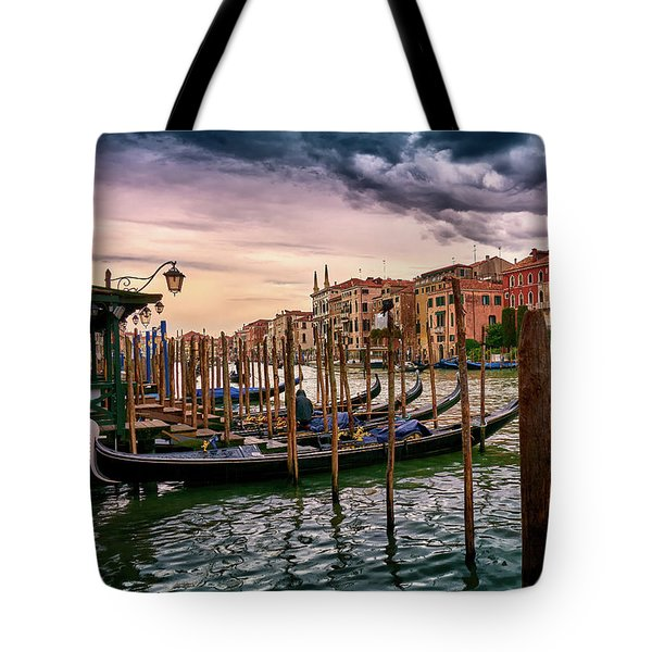 Surreal Seascape On The Grand Canal In Venice, Italy Tote Bag