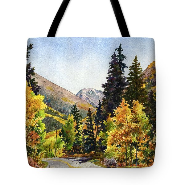 A Drive In The Mountains Tote Bag