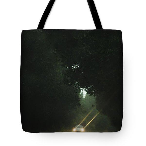 A Drive In The Rain Tote Bag