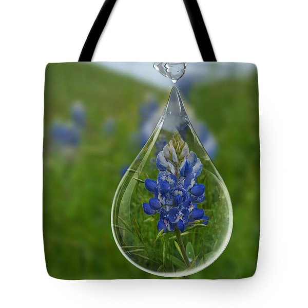 A Drop Of Texas Blue Tote Bag by ARTography by Pamela Smale Williams