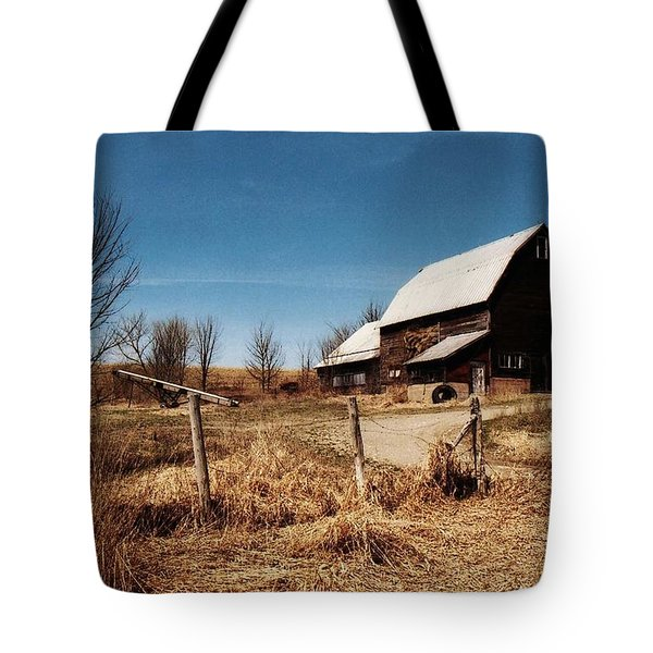 A Dry Autumn Tote Bag