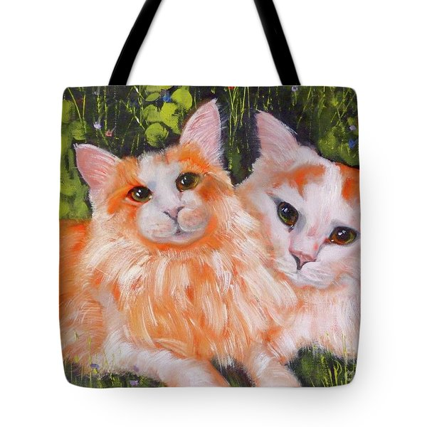 A Duet Of Kittens Tote Bag