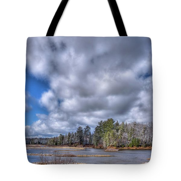 Tote Bag featuring the photograph A Dusting Of Snow by David Patterson
