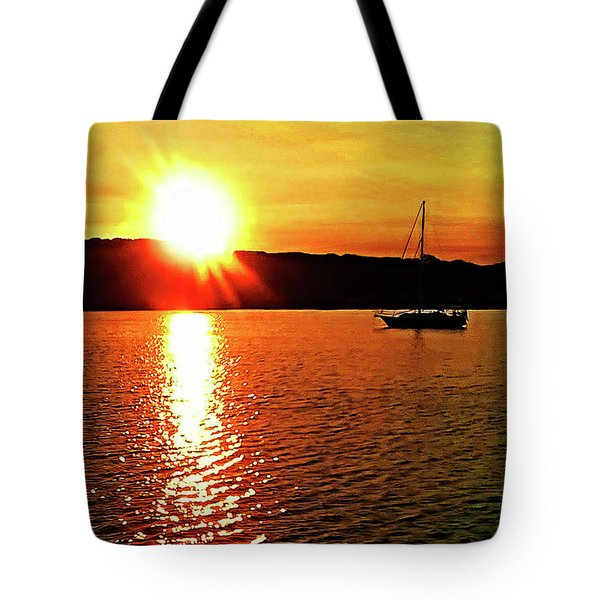 A Early Springtime Visit To Mystic Village In M Tote Bag