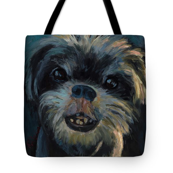 Tote Bag featuring the painting A Face Only A Mother Could Love by Billie Colson
