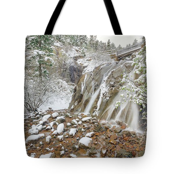 A Factitious Bridge In A Natural Environment  Tote Bag by Bijan Pirnia