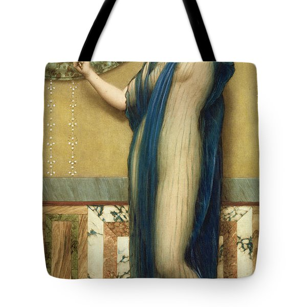 A Fair Reflection Tote Bag by John William Godward