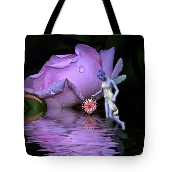 Tote Bag featuring the photograph A Fairys World by Elaine Manley