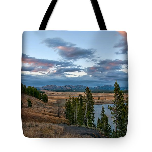 A Fall Evening In Hayden Valley Tote Bag