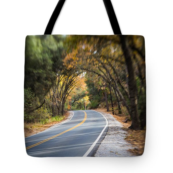 A Fall Roadway Tote Bag